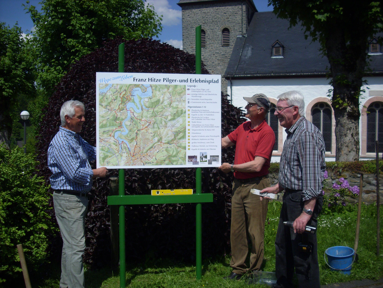 Wegetafel für Franz Hitze Wander- u. Pilgerweg