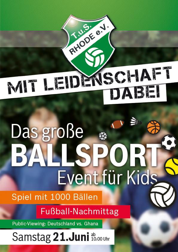 TuS Veranstaltung – Ballsport-Event für Kids, abends Public-Viewing