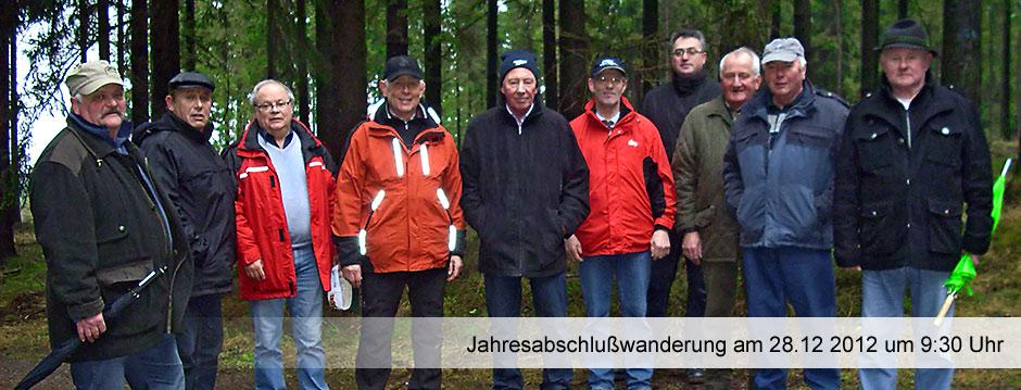 Jahresabschluss-Wanderung am 28.12.2012