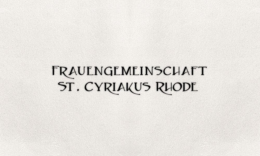 Frauengemeinschaft St. Cyriakus Rhode