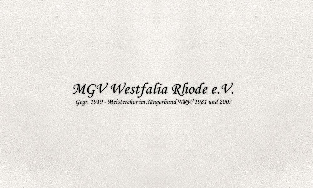 MGV Westfalia Rhode e.V.